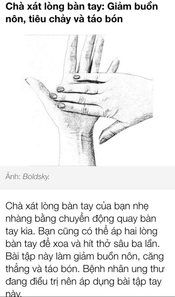 Chà sát 2 lòng bàn tay