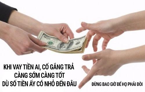 Mượn tiền nhớ trả đúng hạn